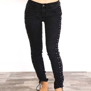 Carmar Denim with laces up each leg